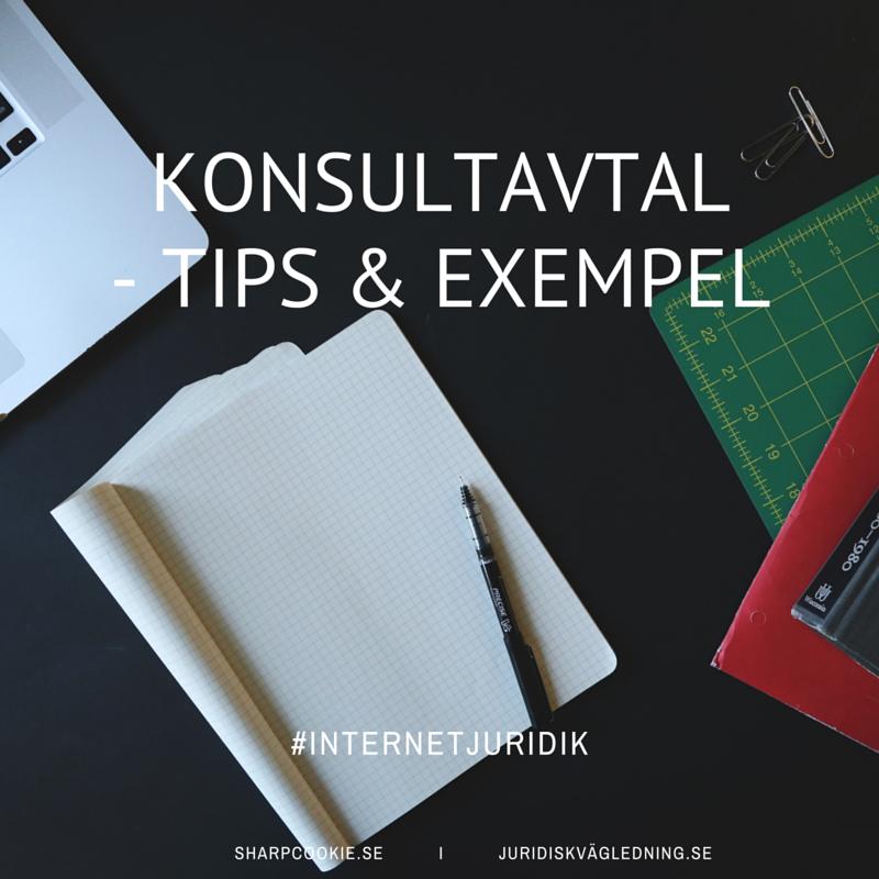 Konsultavtal - tips och exempel