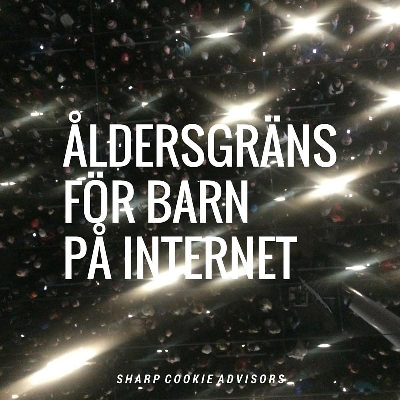 Åldergräns för barn på internet