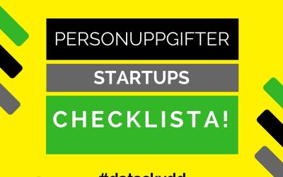 personuppgiftslagen startups